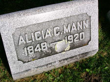 MANN, ALICIA C. - Linn County, Iowa   ALICIA C. MANN