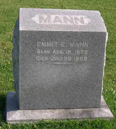 MANN, EMMIT E. - Linn County, Iowa   EMMIT E. MANN