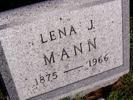 MANN, LENA J. - Linn County, Iowa   LENA J. MANN