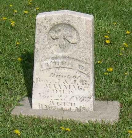 MANNING, INDIA E. (?) - Linn County, Iowa | INDIA E. (?) MANNING