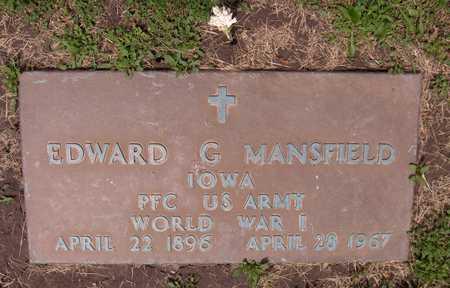 MANSFIELD, EDWARD G. - Linn County, Iowa   EDWARD G. MANSFIELD