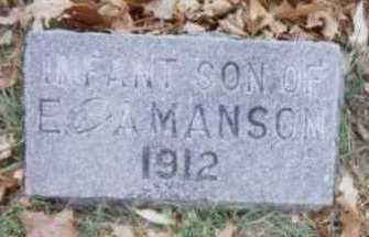 MANSON, INFANT SON - Linn County, Iowa   INFANT SON MANSON