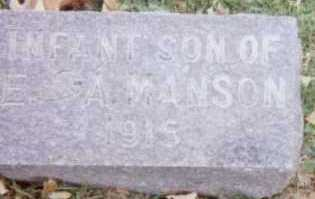 MANSON, INFANT SON - Linn County, Iowa | INFANT SON MANSON