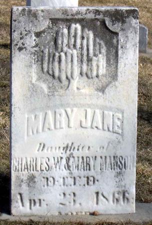 MANSON, MARY JANE - Linn County, Iowa | MARY JANE MANSON