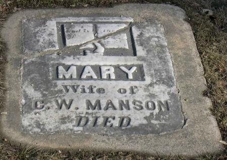 MANSON, MARY - Linn County, Iowa   MARY MANSON