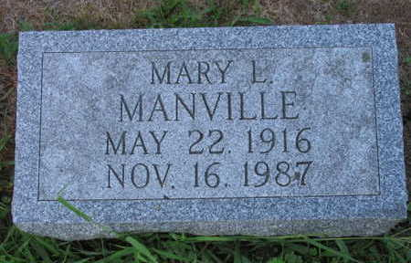 MANVILLE, MARY L. - Linn County, Iowa | MARY L. MANVILLE