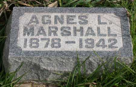 MARSHALL, AGNES L. - Linn County, Iowa | AGNES L. MARSHALL