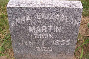 MARTIN, ANNA ELIZABETH - Linn County, Iowa | ANNA ELIZABETH MARTIN