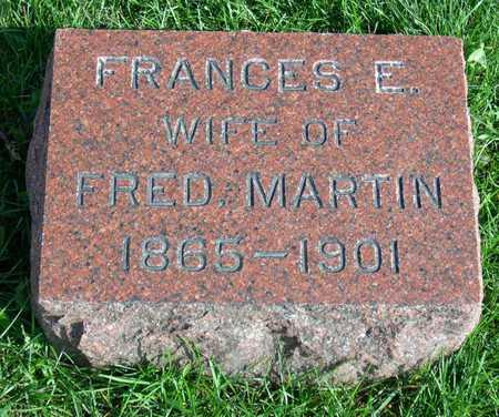 MARTIN, FRANCES E. - Linn County, Iowa   FRANCES E. MARTIN