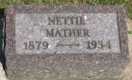 MATHER, NETTIE - Linn County, Iowa   NETTIE MATHER
