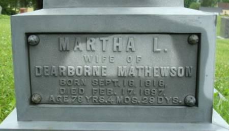 MATHEWSON, MARTHA L. - Linn County, Iowa | MARTHA L. MATHEWSON