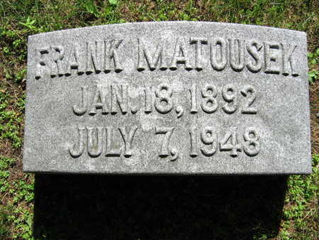 MATOUSEK, FRANK - Linn County, Iowa | FRANK MATOUSEK