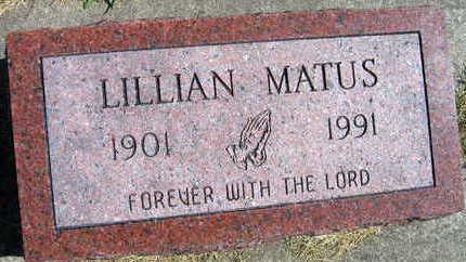 MATUS, LILLIAN - Linn County, Iowa | LILLIAN MATUS