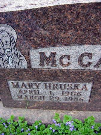 HRUSKA MCCARTHY, MARY - Linn County, Iowa   MARY HRUSKA MCCARTHY
