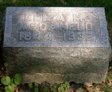MCDANALD, ELIZA M. - Linn County, Iowa   ELIZA M. MCDANALD