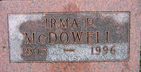 MCDOWELL, IRMA F. - Linn County, Iowa | IRMA F. MCDOWELL