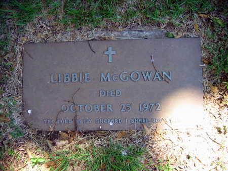 MCGOWAN, LIBBIE - Linn County, Iowa   LIBBIE MCGOWAN