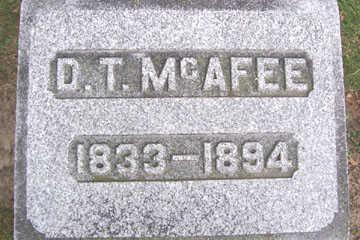 MCAFEE, D. T. - Linn County, Iowa | D. T. MCAFEE
