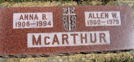 MCARTHUR, ANNA B. - Linn County, Iowa | ANNA B. MCARTHUR