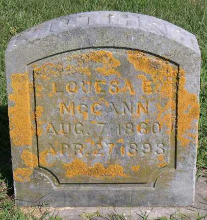 MCCANN, LOUESA E. - Linn County, Iowa   LOUESA E. MCCANN