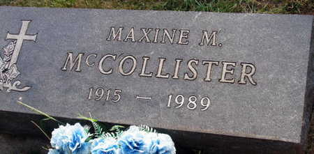 MCCOLLISTER, MAXINE M - Linn County, Iowa | MAXINE M MCCOLLISTER