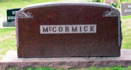 MCCORMICK, FAMILY STONE - Linn County, Iowa | FAMILY STONE MCCORMICK