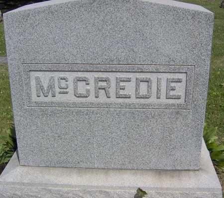 MCCREDIE, FAMILY STONE - Linn County, Iowa | FAMILY STONE MCCREDIE