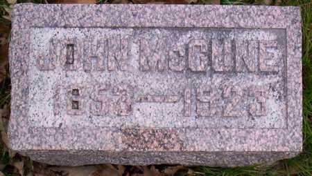 MCCUNE, JOHN - Linn County, Iowa   JOHN MCCUNE