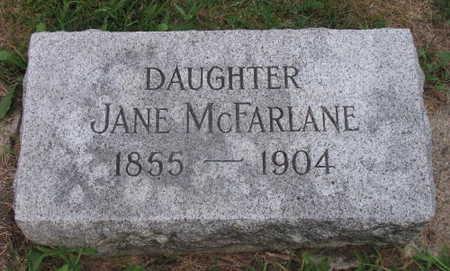 MCFARLANE, JANE - Linn County, Iowa   JANE MCFARLANE