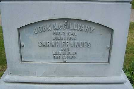 MCGILLVARY, SARAH FRANCES - Linn County, Iowa | SARAH FRANCES MCGILLVARY