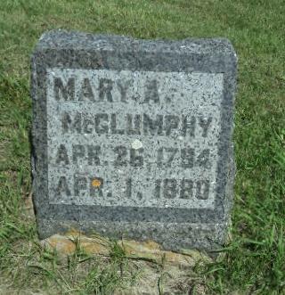 VERNON MCGLUMPHY, MARY A. - Linn County, Iowa | MARY A. VERNON MCGLUMPHY