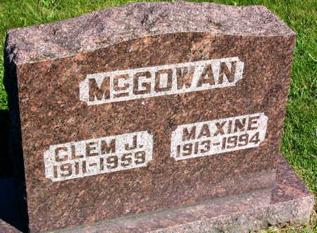 MCGOWAN, MAXINE - Linn County, Iowa | MAXINE MCGOWAN