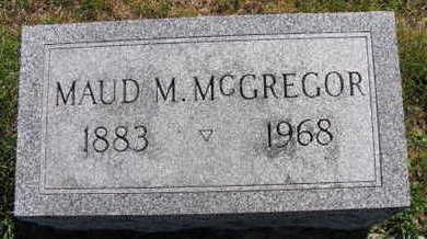 MCGREGOR, MAUD M. - Linn County, Iowa | MAUD M. MCGREGOR