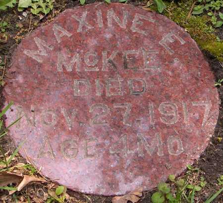 MCKEE, MAXINE E. - Linn County, Iowa   MAXINE E. MCKEE