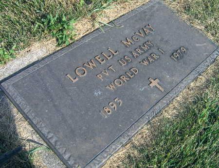 MCVAY, LOWELL - Linn County, Iowa   LOWELL MCVAY