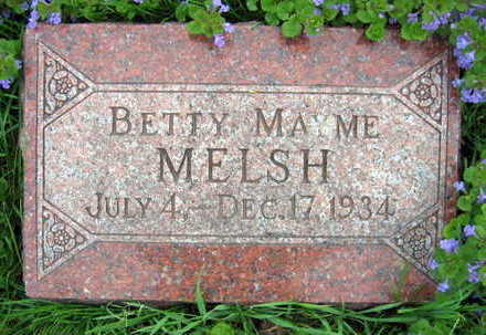 MELSH, BETTY MAYME - Linn County, Iowa | BETTY MAYME MELSH
