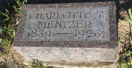 MENTZER, CHARLOTTE T. - Linn County, Iowa   CHARLOTTE T. MENTZER