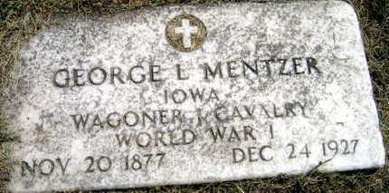 MENTZER, GEORGE L. - Linn County, Iowa   GEORGE L. MENTZER