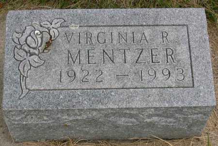 MENTZER, VIRGINIA R. - Linn County, Iowa   VIRGINIA R. MENTZER