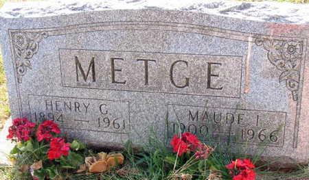 METGE, MAUDE I. - Linn County, Iowa   MAUDE I. METGE