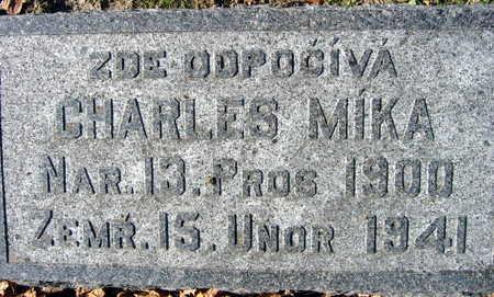 MIKA, CHARLES - Linn County, Iowa   CHARLES MIKA