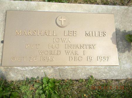 MILES, MARSHALL LEE - Linn County, Iowa | MARSHALL LEE MILES