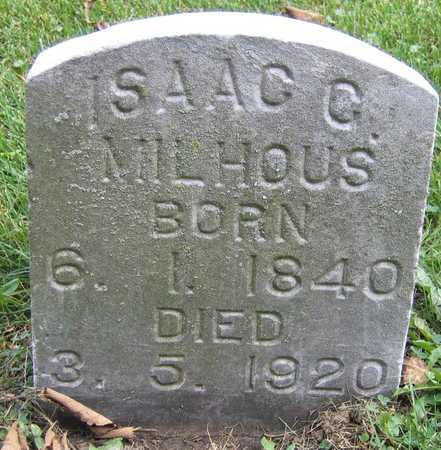 MILHOUS, ISAAC C. - Linn County, Iowa   ISAAC C. MILHOUS