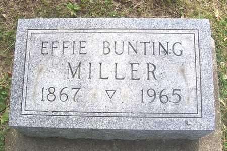 BUNTING MILLER, EFFIE - Linn County, Iowa | EFFIE BUNTING MILLER
