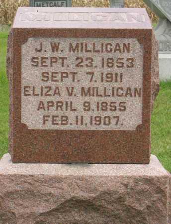 MILLIGAN, ELIZA V. - Linn County, Iowa | ELIZA V. MILLIGAN