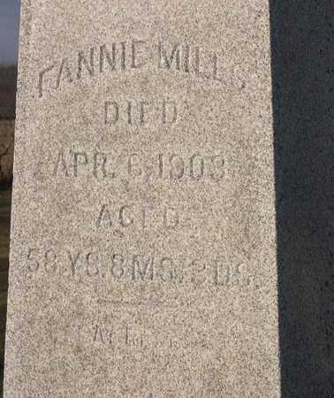 MILLS, FANNIE - Linn County, Iowa | FANNIE MILLS