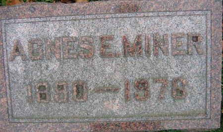 MINER, AGNES E. - Linn County, Iowa | AGNES E. MINER