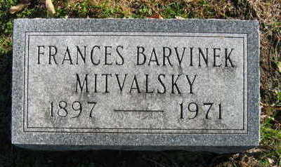 BARVINEK MITVALSKY, FRANCES - Linn County, Iowa | FRANCES BARVINEK MITVALSKY