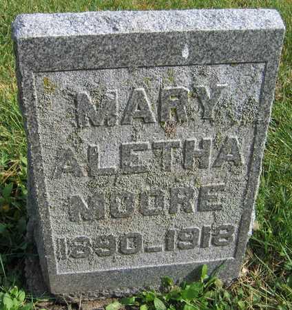 MOORE, MARY ALETHA - Linn County, Iowa   MARY ALETHA MOORE