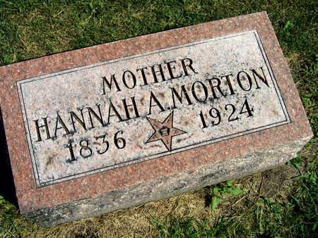 MORTON, HANNAH A. - Linn County, Iowa   HANNAH A. MORTON